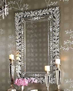 Venetian Design Rectangular Living Room Mirror