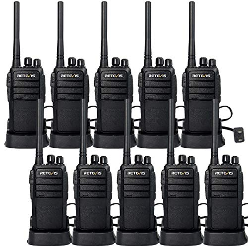 Retevis RT21 Walkie Talkies FRS Radio 2 Way Radios FCC 16CH CTCSS/DCS VOX License Free Two Way Radio (10 Pack)