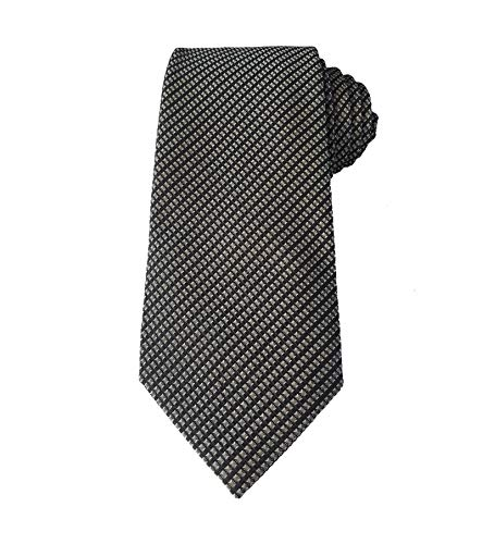 TOM FORD Mens Check Woven Textured Silk Tie, Black White