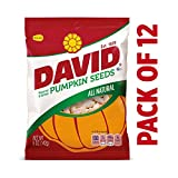 DAVID Roasted and Salted Pumpkin Seeds, 5 oz, 12 Pack