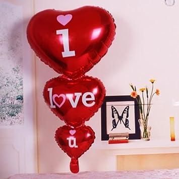 Globo Balón hinchable Corazones I Love U Corazón San ...