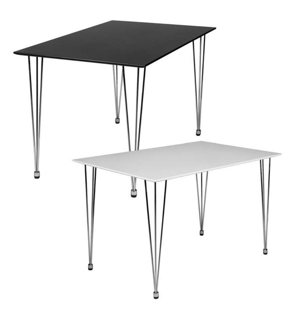 Design Esstisch OSLO 120 x 80 x 76 cm Form Rechteckig ...