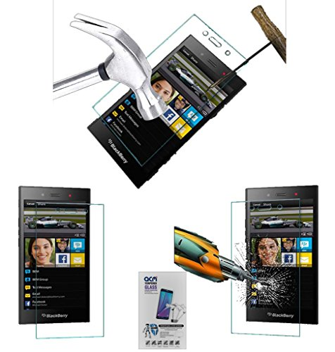 Acm Tempered Glass Screenguard Compatible with BlackBerry Z3 Mobile Screen Guard Scratch Protector