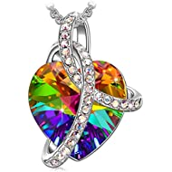 SIVERY Birthday Gifts 'Love Heart' Women Jewelry Necklace with Swarovski Crystals, Gifts for Mom