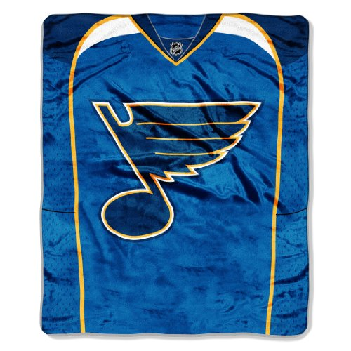 Micro Blanket Raschel Throw 50x60 (The Northwest Company NHL St. Louis Blues Jersey Royal Plush Raschel Throw Blanket, 50x60-Inch)