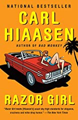 A lovable con woman and a disgraced detective team up to find a redneck reality TV star in this raucous and razor-sharp new novel from Carl Hiaasen, the bestselling author of Bad Monkey. Merry Mansfield, the eponymous Razor Girl, specializes ...