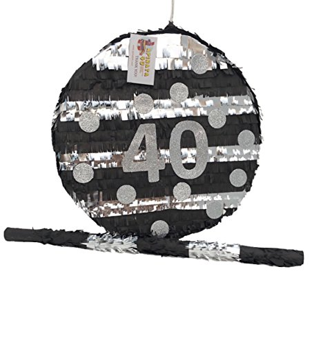 APINATA4U 40th Birthday Pinata Black & Silver Color -