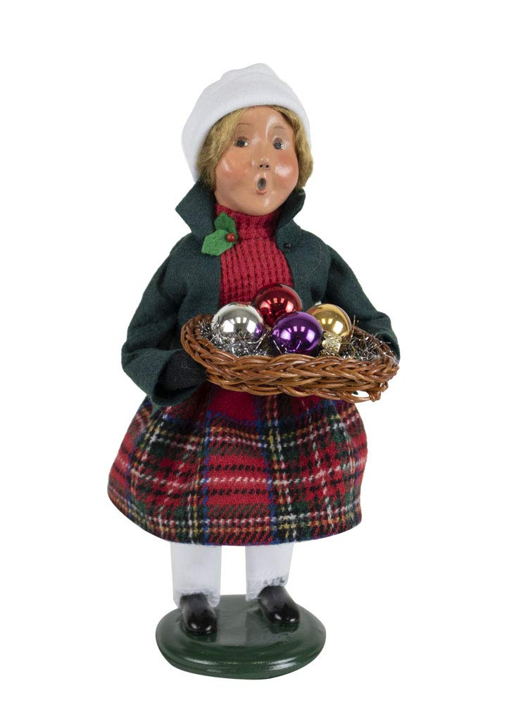 Byers' Choice Glass Ornament Girl Caroler Figurine from The Christmas Market Collection #4473D (New 2019)