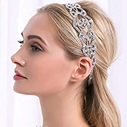 Silver Crystal Headband for Brides and Bridesmaids