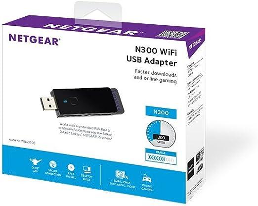 NETGEAR N300 Wi Fi USB Adapter (WNA3100