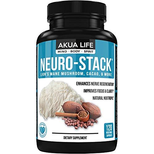 Lion's Mane Mushroom, PLUS-21-ADDITIONAL-NOOTROPICS, Brain Supplement, Energy Pills, PhosphatidylSerine, Ginkgo Biloba, Lemon Balm, Bacopa Monnieri, Nootropic Stack, Immune System Booster, No Caffeine