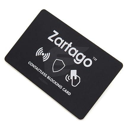 Zartago RFID Blocker Card | Proteccion RFID para Tarjetas de crédito y Pasaporte | Tarjeta Anti RFID Bloqueo antirrobo para Cartera o Billetera