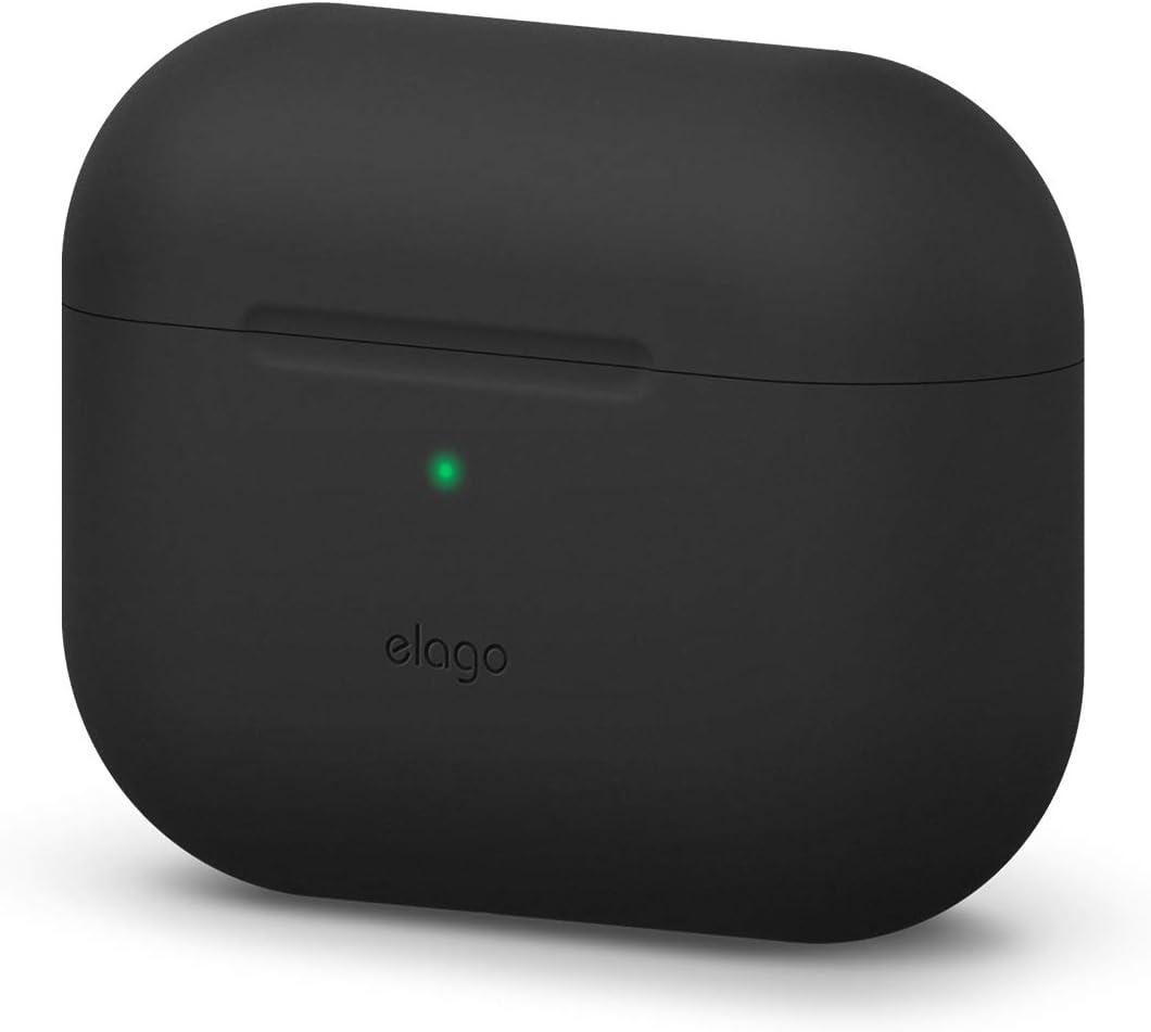 elago Original Funda Silicona Compatible con Apple AirPods Pro (2019) - 360° Protección de Cuerpo Completo, Premium Silicona [Ajuste Probado] (Negro)