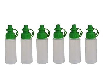 Amazon.com: 6 botellas de plástico translúcido vacías de 20 ...