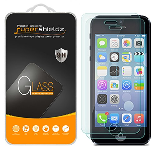 Supershieldz (2 Pack) for iPhone 4S and iPhone 4 Tempered Glass Screen Protector, Anti Scratch, Bubble Free (Best Os For Iphone 4s)