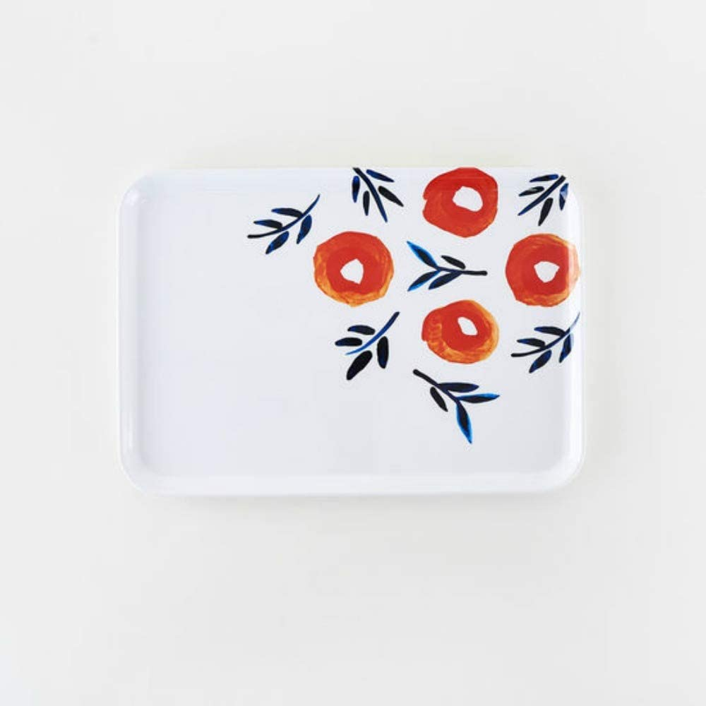 One Hundred 80 Degrees Melamine Poppy Tray 9 x 13