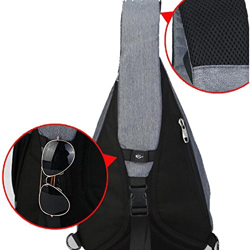 Boy High Chest Hiking Crossbody quality Backpack Sport Bag Bicycle Man Women Pangoie Teenagers Pack Sling Gray Girl Handbag For Shoulder Rucksack School BwUxX8c