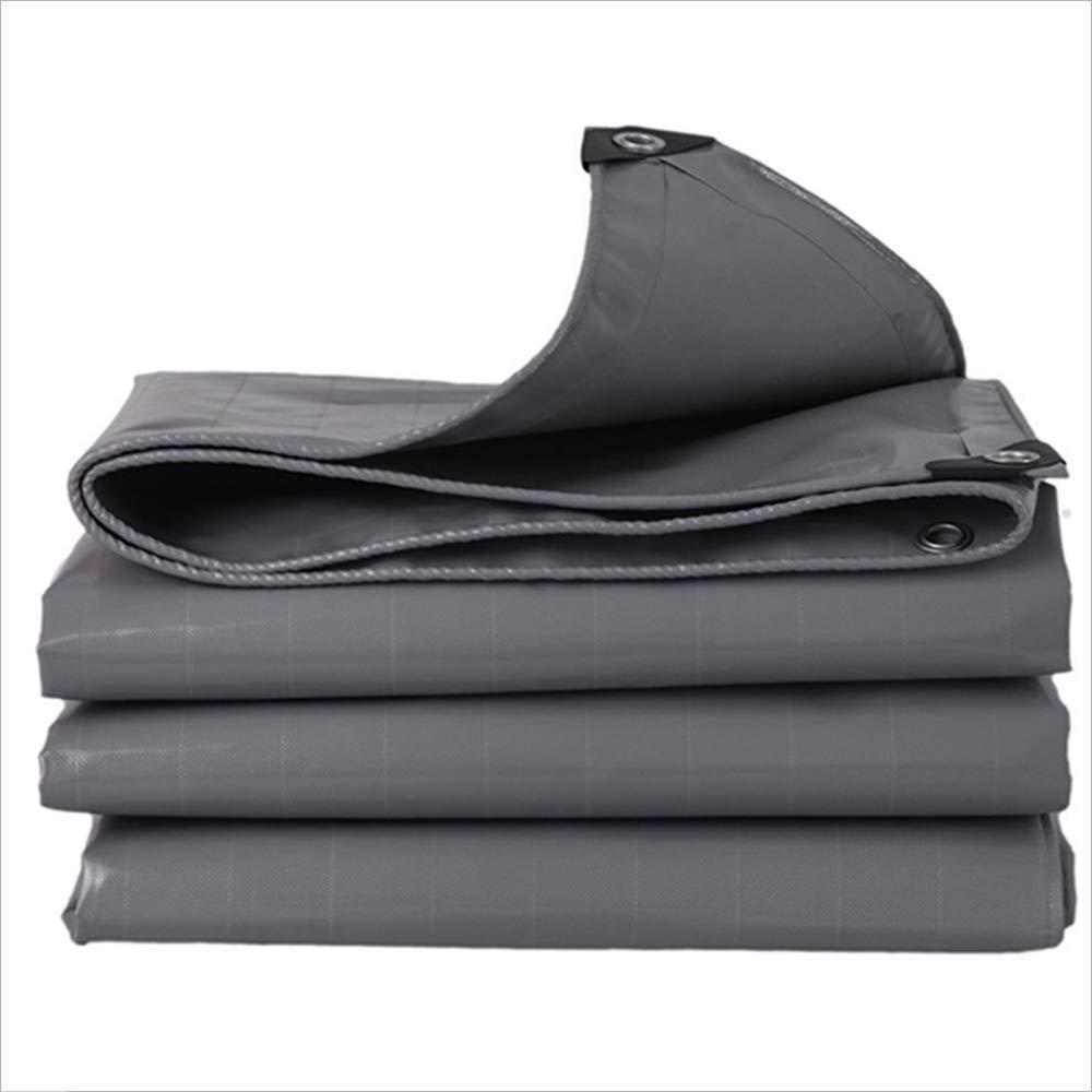 ZHULIAN Wasserdichtes Tuch, Graues PVC-Staubdichtes Regendichtes Ölschutztuch Außenmarkise Tucheinfassung Canvas