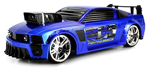 VT Fighting Machines Ford Mustang Remote Control RC Car 1:16 Scale Ready to Run RTR w/ Bright Lights, (Muscle Machines Rc)