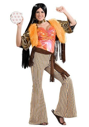 Forum 60's Revolution Groovy Gal Costume, Multi, One (Hot Hippie Halloween Costumes)