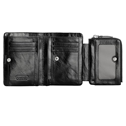 Contacts Customized Mens Genuine Leather Bifold Wallet Personalized Engraved - Customize Cards Gift