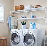 Laundry Room Shelf EZ Shelf Expandable Laundry Room Shelving Kit, Wall Mount, White