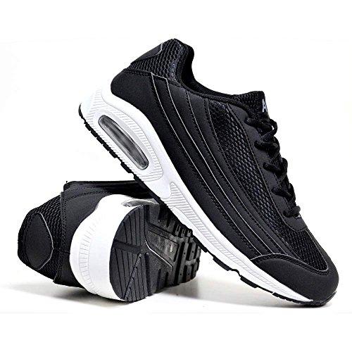 Herren-Legacy-Schuhe, für Laufen, Trainieren, Fitness, Sport, Gym, Größe: 41 - 47, - schwarz / weiß - Größe: 43