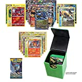 Pokemon EX Guarantee with Booster Pack, 5 Rare Cards, 5 Holo/Reverse Holo Cards, 20 Regular Pokemon Cards and 1 Green Dragonhide Deck Box