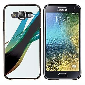 Caucho caso de Shell duro de la cubierta de accesorios de protección BY RAYDREAMMM - Samsung Galaxy E5 E500 - Blue Swirl