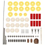 Flute Repair Tools Kit w 16pcs Open Hole Sound Pads, Musical Instrument Woodwind Maintenance Tools Set