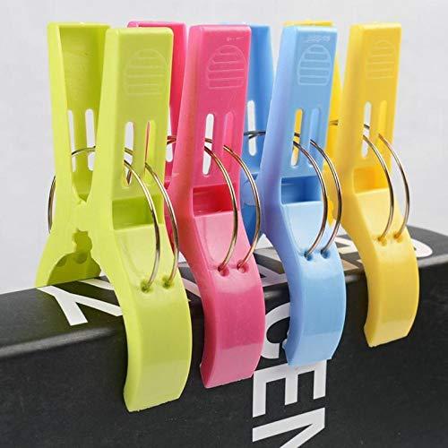 Cikuso Paquete De 4 Clips Clavijas De Toalla De Playa De Plastico De Color Brillante Grande para Hamaca