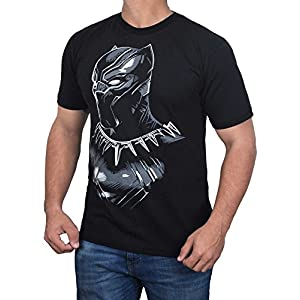 Black Panther 2018 T-Shirt - Mens Adult Black Panther Shirt by Miracle (Small)