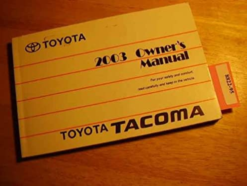 2003 toyota tacoma owners manual toyota amazon com books rh amazon com 2003 toyota tacoma owners manual free 2000 toyota tacoma owners manual