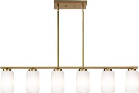 TODOLUZ Brass 6 Light Kitchen Lighting Fixtures