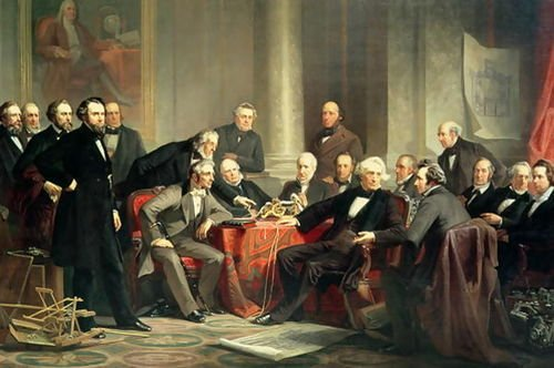 Christian Schussele Men of Progress: group portrait of the great American inv... by 1st Art Gallery