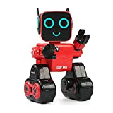 LEORY R4 Original Cady Wile RC Robot Cute Remote Control Voice Control Intelligent Robot With Piggy Bank For Children Kids Gift (RED)