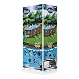 """Bestway 56717E 18' x 9' x 48"""" Power Steel Swim Ways Above Ground Oval Swimming Pool Set with 1500 GPH Filter Pump, Pool Cover, and Ladder"""