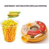 Corn Stripper,EverPlus Corn Cob Cutter Corn Peeler Cob Remover Corn Shucker Kitchen Cooking Tools with Hand Protector (02 Yellow)