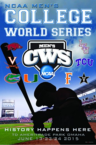 2015 Official College World Series CWS Omaha Team Logos Print Poster (36 Champs Poster)