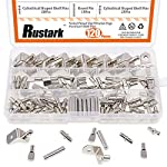 Rustark 120-Pcs 4 Styles Nickel Plated Shelf Pins Bracket Pegs Cabinet Furniture Shelf Pin Support Assortment Kit Perfect for Shelf Holes