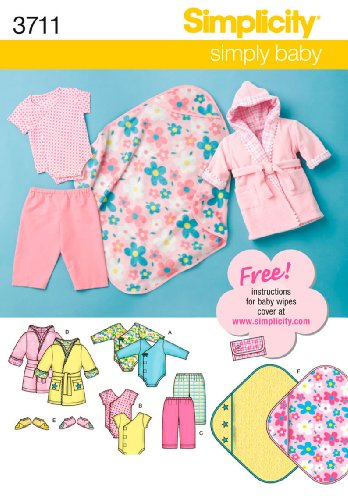 Simplicity Sewing Pattern 3711 Babies Separates, A (XXS-XS-S-M-L)