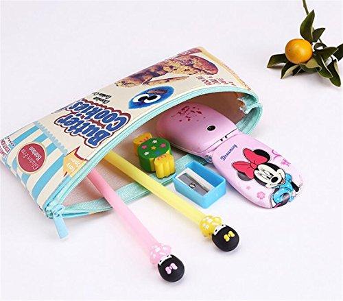 Easyflower - Estuche para bolígrafos, diseño de galletas, ideal para escribir y para estudiantes, diseño de galletas de...