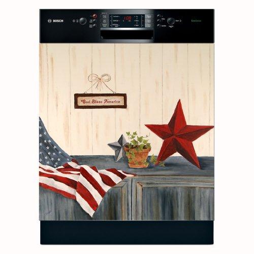 Appliance Art Stars & Stripes Dishwasher Magnet Cover (La...