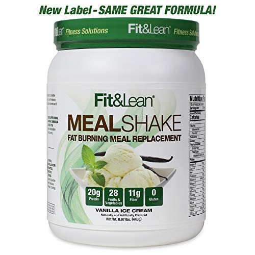 Fit & Lean Fat Burning Meal Replacement, Vanilla, 0.97 lb (Best Womens Weight Loss Shakes)