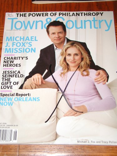 Town & Country Magazine Back Issue June 2006 Michael J Fox & Tracy Pollan Cover ()