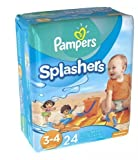 Pampers Splashers Swim Diapers Size 3-4 24.0e (pack of 5)
