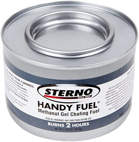 Sterno 20102 Chafing Gel Dish 2 Fuel Methanol 12 Cans 6.70 oz – Long 2 Hours Burning Time for Heating Food or Meals