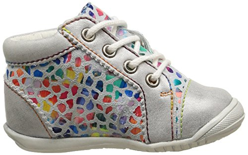 GBB Manelle - Zapatos de primeros pasos Bebé-Niños Multicolor - Multicolore (18 Vtc Gris Clair/Mosaic Dpf/Kezia)