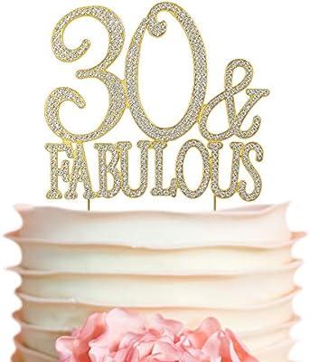 Amazon.com: 40 y fabulosa decoración para tartas con ...