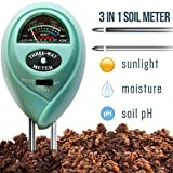 7Pros Soil Test Kit Moisture Meter, 3 in 1 Plant Water Meter Light Tester for Potted Plants, Soil PH Meter for Garden, Farm, Lawn Indoor/Outdoor Plant Care Tool, Easy Read Indicator No Battery Needed